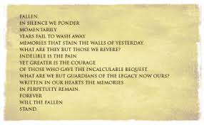 Forever Will The Fallen Stand