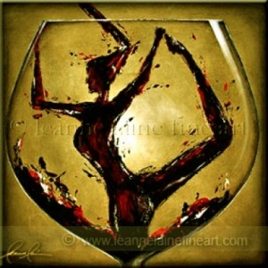 woman-in-wine-art-painting-leanne-laine-a-glass-of-red-wine-a-day-sage